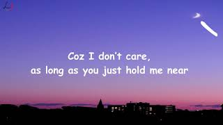 Ed Sheeran & Justin Bieber - I Don't Care [Lyric Video]