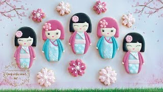 CUTE KOKESHI DOLL COOKIES - Two Japanese Inspired Designs