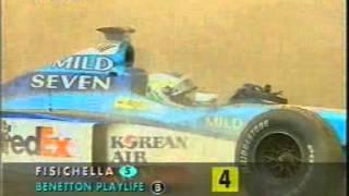 1998 Catalunya 2 Irvine crashes with Fisichella  Race