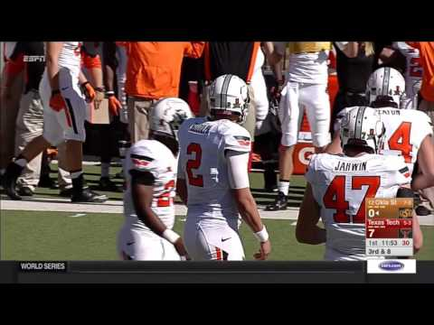 Oklahoma State at Texas Tech football 2015