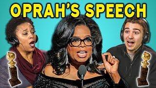 ADULTS REACT TO #TimesUp (Oprah