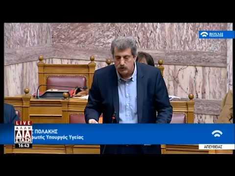 Π. Πολάκης στη Βουλή: Δεν ηχογράφησα καμία συνομιλία   19/02/19   ΕΡΤ