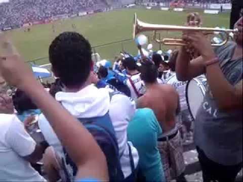 """""""Mi corazón, pintado blanquiazul"""" Barra: La Demencia • Club: Celaya"""