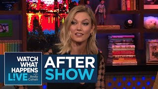 "On Watch What Happens Live, Karlie Kloss discussed Taylor Swift's essay in Elle, saying, ""Taylor's incredible and I feel really lucky to call her a friend. She's one of the hardest working women and I loved her essay...She can sneeze out [a hit]! She's so talented."""