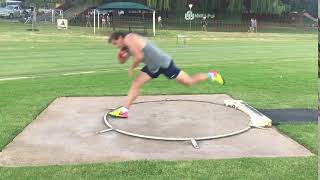 Adam Helcelet Shot Put side view training camp 2018