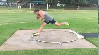 Adam Helcelet Shot Put side view training camp 2018