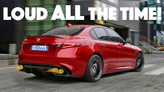 Super Stealthy Alfa Romeo Exhaust Mod! (Giulia Quadrifoglio)