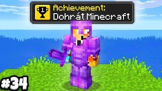 dohrál jsem Minecraft.