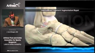 Lateral ankle reconstruction (Brostrom) using the Arthrex Internal Brace. Kent Ellington, MD.