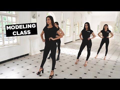 Modeling Class and Training | How To Walk The Runway Like A Model | Learn Catwalk
