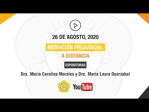 MEDIACIÓN PREJUDICIAL A DISTANCIA - 26 de Agosto 2020