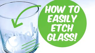 HOW TO ETCH GLASS EASILY USING YOUR CRICUT & ETCHING CREAM | CRAFTMAS DAY 5!