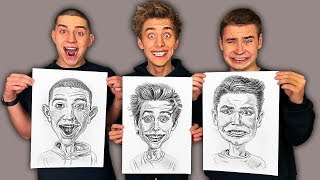 WHO CAN DRAW A YOUTUBER BETTER CHALLENGE !