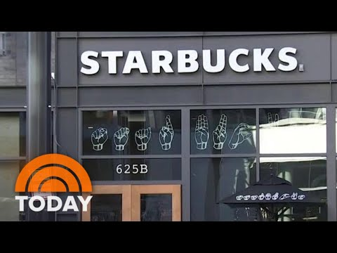 Starbucks Opens 1st U.S. Sign Language Store   TODAY