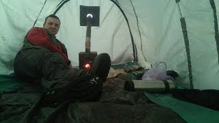 Зимние палатки для рыбалки с печкой своими руками