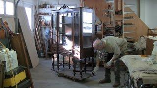 Repairing a China Cabinet's Broken Leg Assembly - Thomas Johnson Antique Furniture Restoration