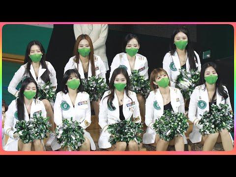 [4K] 치어리더 원주DB (cheerleader) - 1/2쿼터 단체 응원 @남자농구(원주DB)/21011…