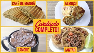 CARDÁPIO FIT FÁCIL DELICIOSO! | Café Da Manhã, Almoço, Lanche E Jantar Saudáveis!