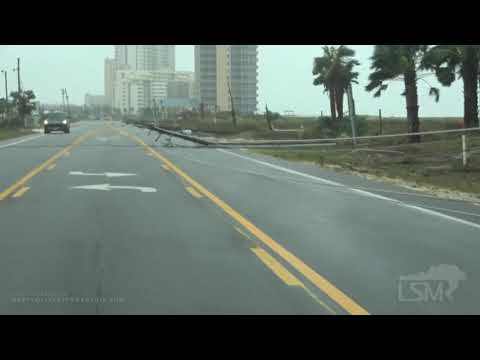 9-16-2020 Pensacola, Fl Hurricane Sally damage, I-10 closure, car hit downed tree