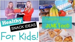 Easy & Healthy Snack Ideas For Kids! Which Is Cheaper?? Junk Food Vs. Healthy Food