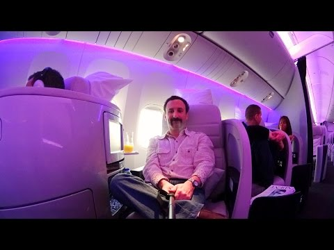 Air New Zealand Business Premier seat tour and review LHR-LAX