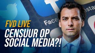 Censuur op social media?! (Met Max von Kreyfelt) - FVD Journaal #23 LIVE