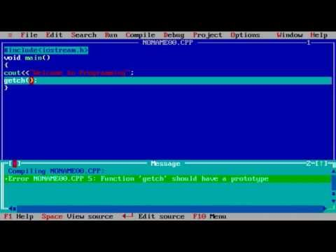 Turbo C++  tutorial