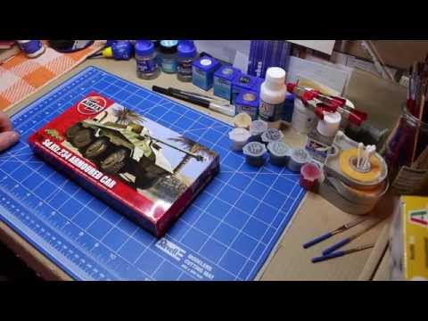 Unboxing SonderKfZ 234 von Airfix 1:76 und ein Farbenproblem