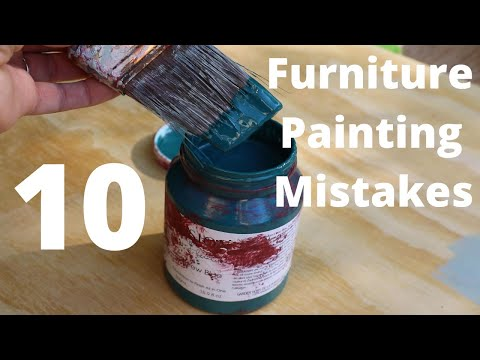 How to Avoid 10 Common Furniture Painting Mistakes