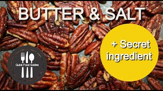 Butter Roasted Pecans, Perfected. Quick Guide (fast Recipe, Under 40 Sec.) Healthy KETO Snack