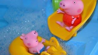 Пеппа и Джордж в аквапарке.Приключения Пеппы.Peppa Pig in aquapark.
