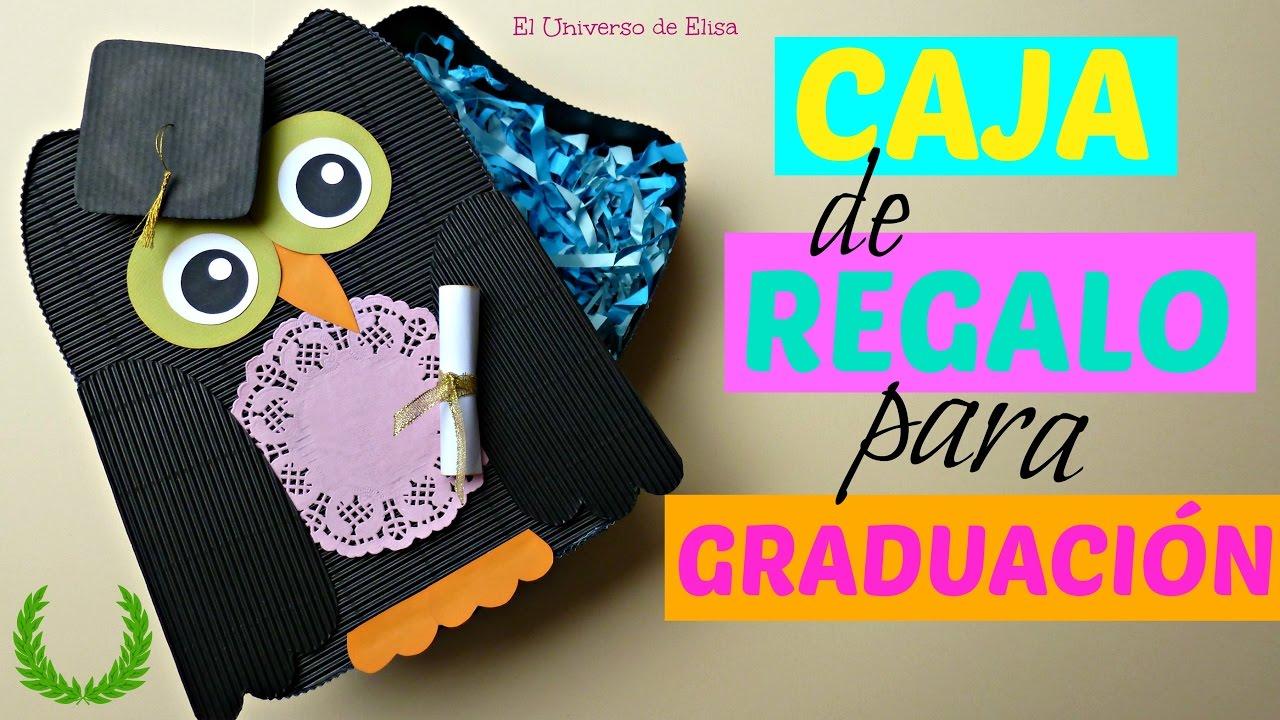 Caja de Regalo para Graduación, Graduation Gifts Box, Caja de Regalo con Búho y Birrete
