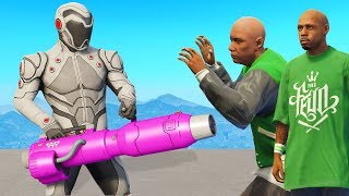 Gang Meet Up! I Got The Laser Minigun.. (GTA 5)