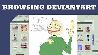 Browsing Deviantart: Baldi