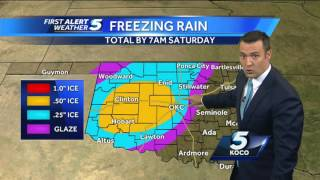 Forecast: Ice storm warning now includes Oklahoma City