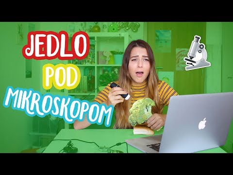 Ako vyzerá jedlo pod mikroskopom?