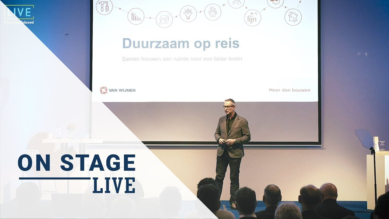 Duurzaam Gebouwd Congres Live On Stage: Hilbrand Katsma