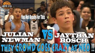 COLD Kid from New Hampshire Jaythan Bosch Challenges CLEVER PG Julian Newman & Shuts Down NEO