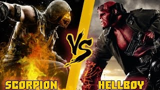 Скорпион (Мортал Комбат) vs Хэллбой / Scorpion (Mortal Kombat)  vs Hellboy - Кто Кого? [bezdarno]