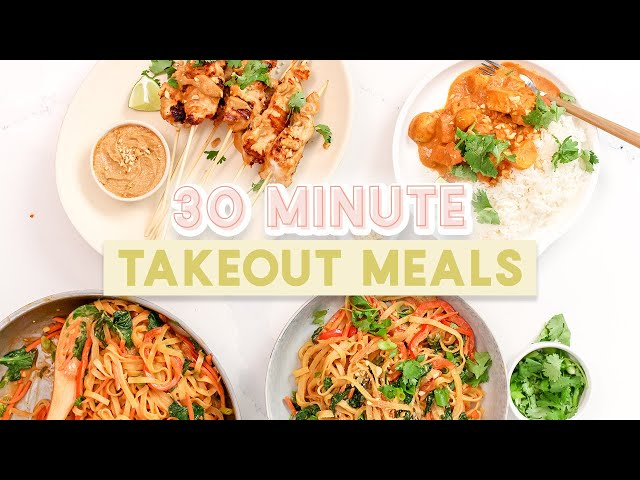 Homemade Takeout Meals in 30 Minutes or Less | Healthy & Easy Recipes!