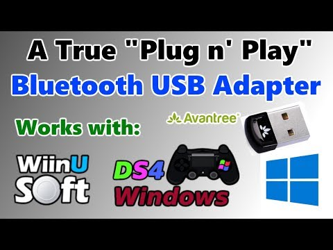 Avantree Bluetooth 4.0 Micro USB Adapter: Wiimotes, WiiUPro & PS4 Controllers on PC – Plug n' Play