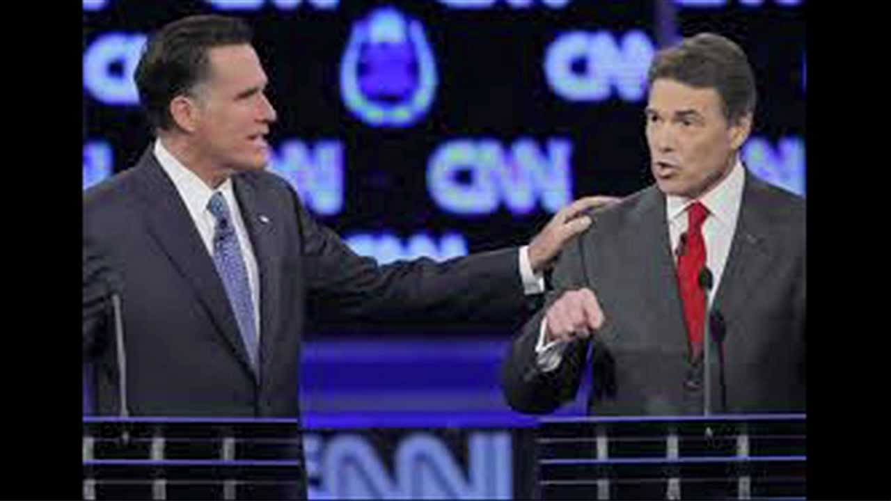 Romney & Perry Trade Jabs at GOP Presidential Debate thumbnail