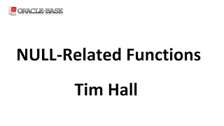 NULL-Related Functions in Oracle