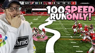 100 SPEED TEAM WITH A TWIST - I CAN ONLY RUN THE BALL!!