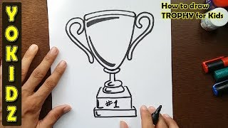 How to draw a TROPHY for kids