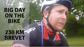 That hurt: 230 km ride