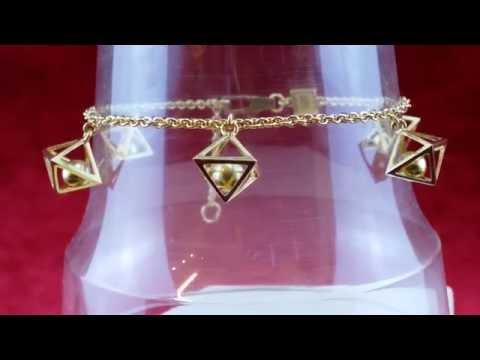 Wunderschöne Goldene Designer Armband  JETTE JOOP  0,750 Gold  Lange: 21cm/18cm    10,38Gr.