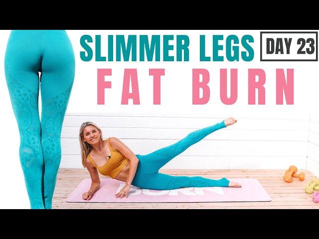 SLIMMER LEGS (burn leg fat) no equipment home workout