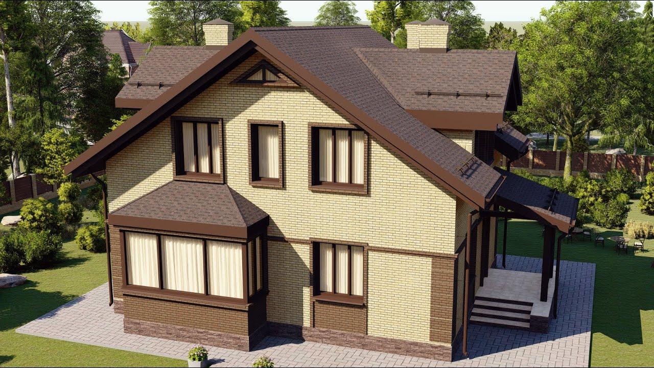Проект дома 169-C, Площадь дома: 169 м2, Размер дома:  10,6x9,8 м