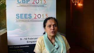 Dr. Prathiba Nagabhushan at CBP Conference 2015 by GSTF